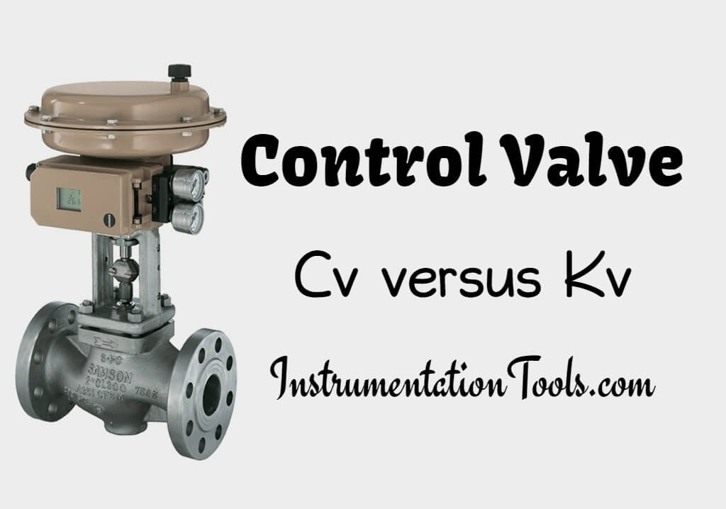 control valve relation between cv and kv