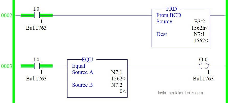 Example PLC Program for Binary Conversion