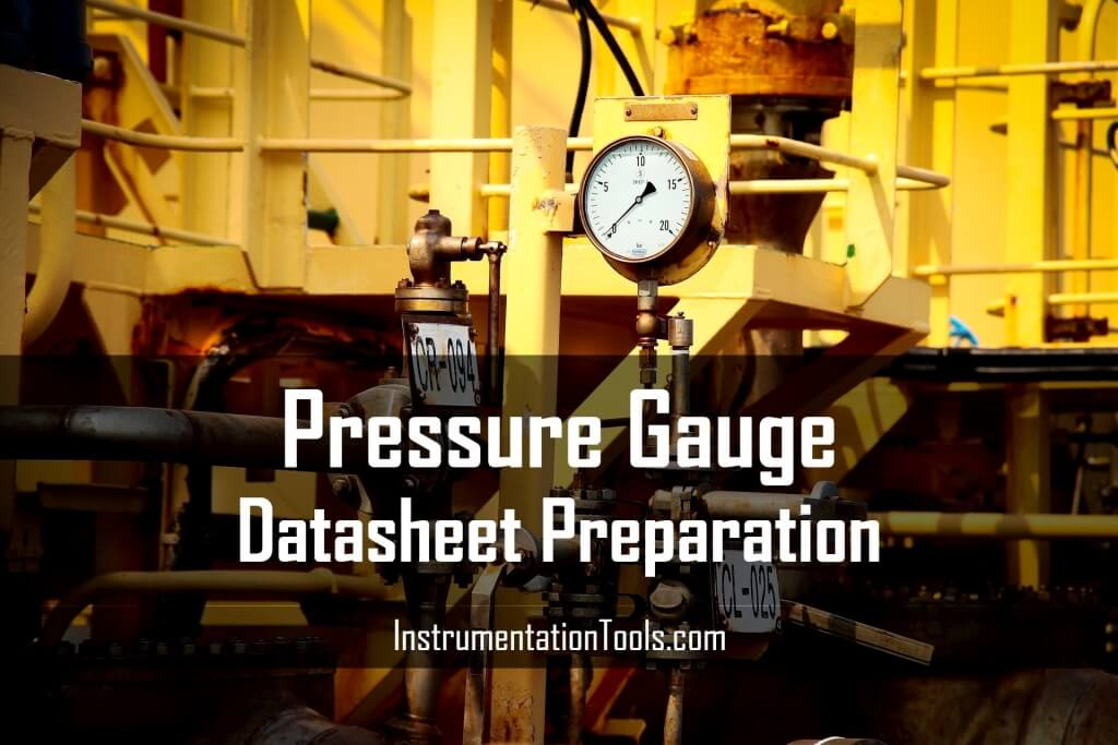 Pressure Gauge Datasheet Preparation