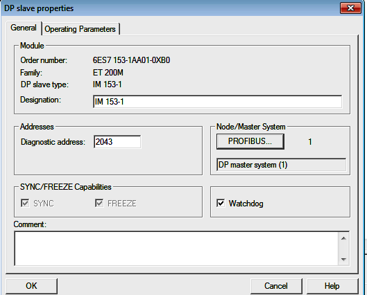 DP Slave address in Simatic Software