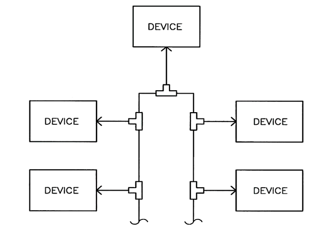 Tapped Network Topology