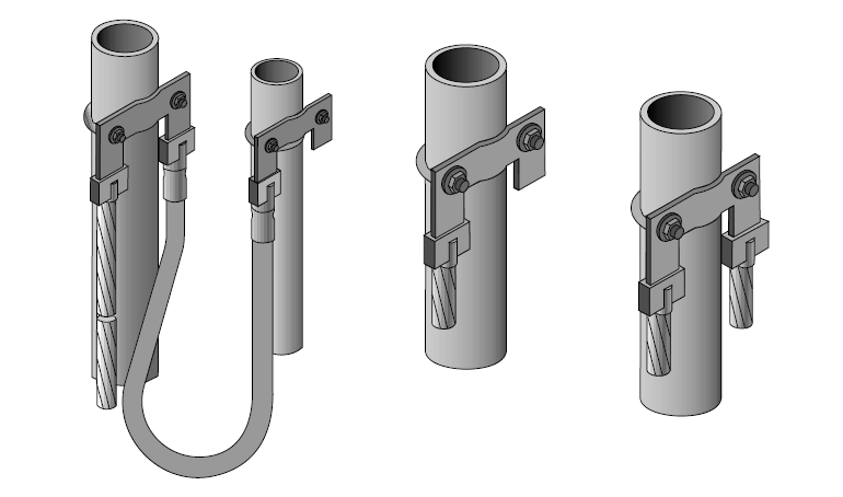 Clamps for fence post