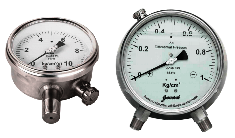 Pressure Gauges with Zero Adjustment