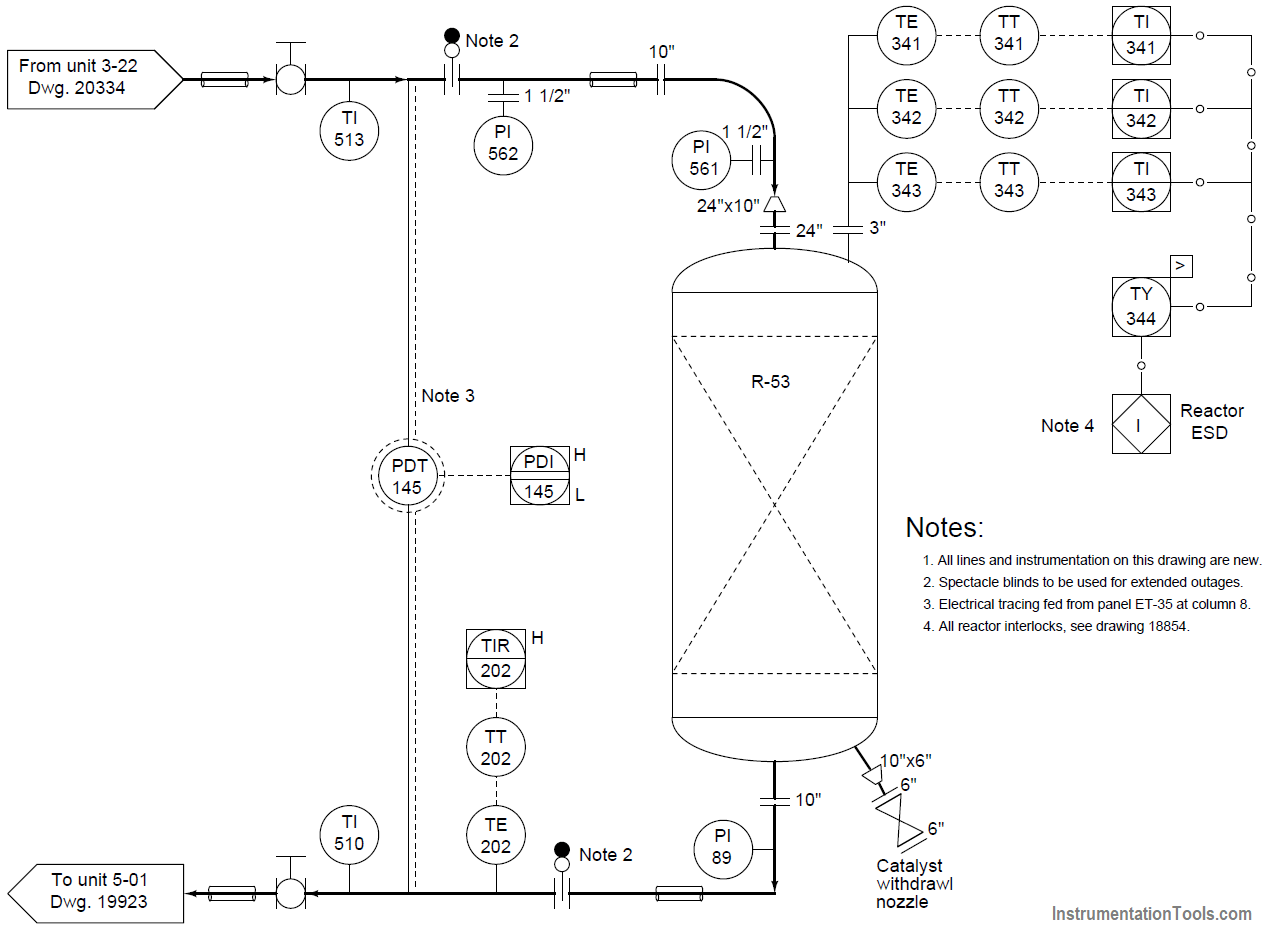 Chemical Reactor Vessel P and ID